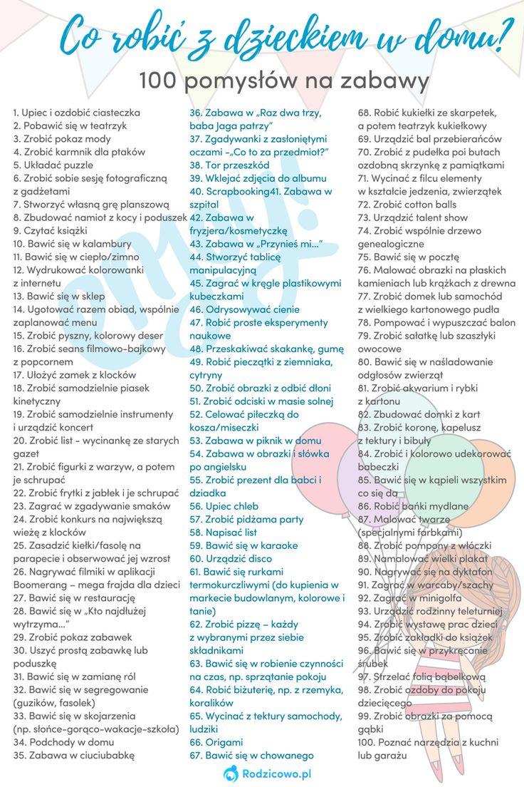 BLOG - Co robić z dzieckiem w domu? 100 pomysłów na zabawy! - RODZICOWO.PL