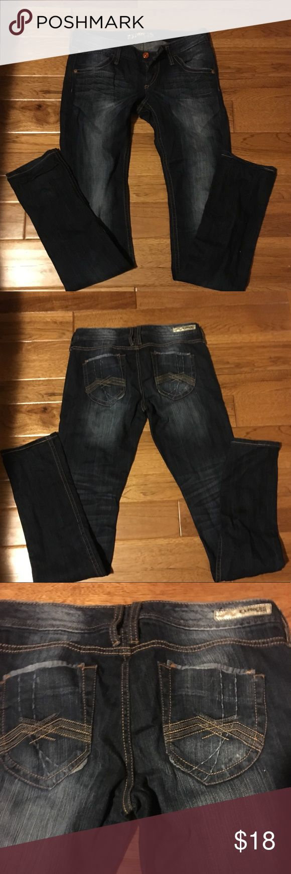 Express Zelda skinny jeans size 8 Express women's Zelda skinny jeans size 8. Purchased and worn two times (because I eat too much and couldn't fit into them anymore haha).  Great condition. Make me an offer! Express Jeans Skinny