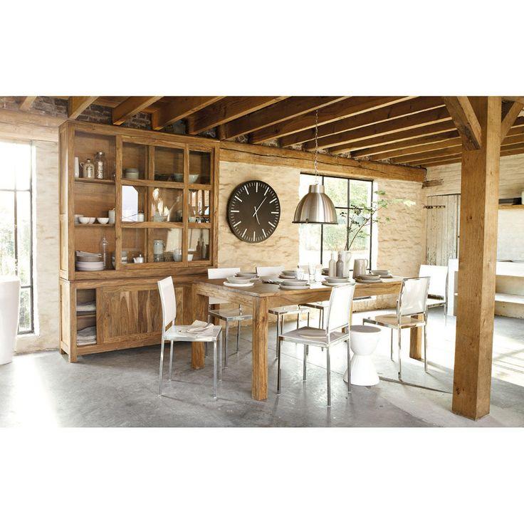Table de salle à manger en bois de sheesham massif L 220 cm Stockholm | Maisons du Monde