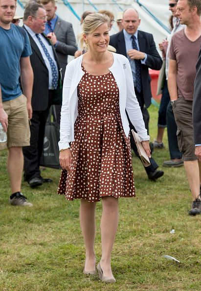 Sophie Countess of Wessex attends the New Forest show on July 26 2016 in Brockenhurst England