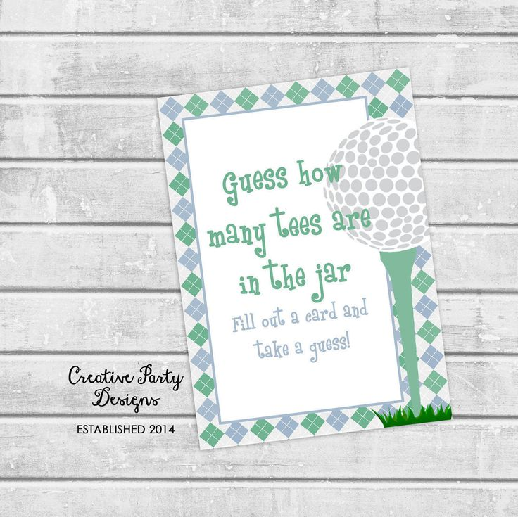 Golf Party Decorations - Golf Theme Party - Golf Decor - Golf Decorations - Golf Baby Shower - Golf Tee Guessing Game - Golf Shower Game by CreativePartyDesigns on Etsy