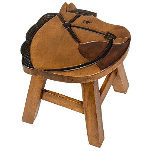 Horse Design Hand Carved Acacia Hardwood Decorative Short Stool * You can get more details by clicking on the image.Note:It is affiliate link to Amazon.