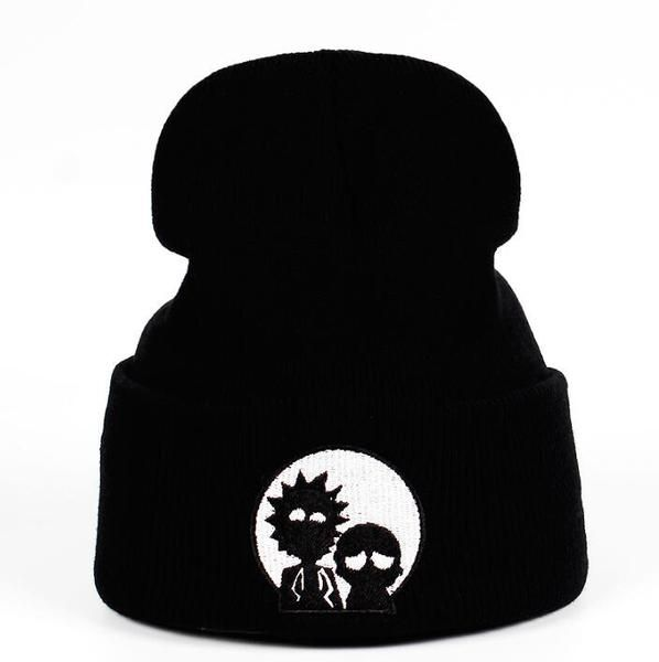 855d8f75417 2018 Rick Beanies Rick and Morty Hats Elastic Brand Embroidery Warm Winter  Unisex Knitted Hat Skullies