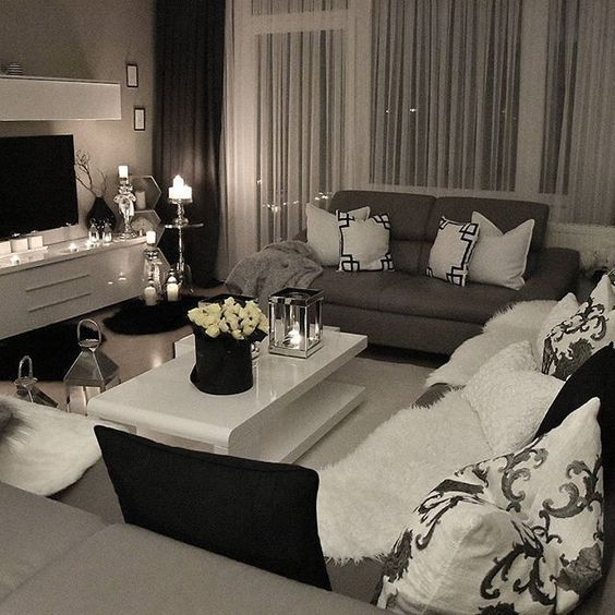 a romantic living room with sober and neutral colors be stunned with these interior design - Black And White Chairs Living Room