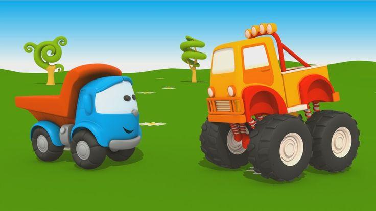 Escavatore bambini ~ Cartoni animati per bambini camion leo junior e il monster truck