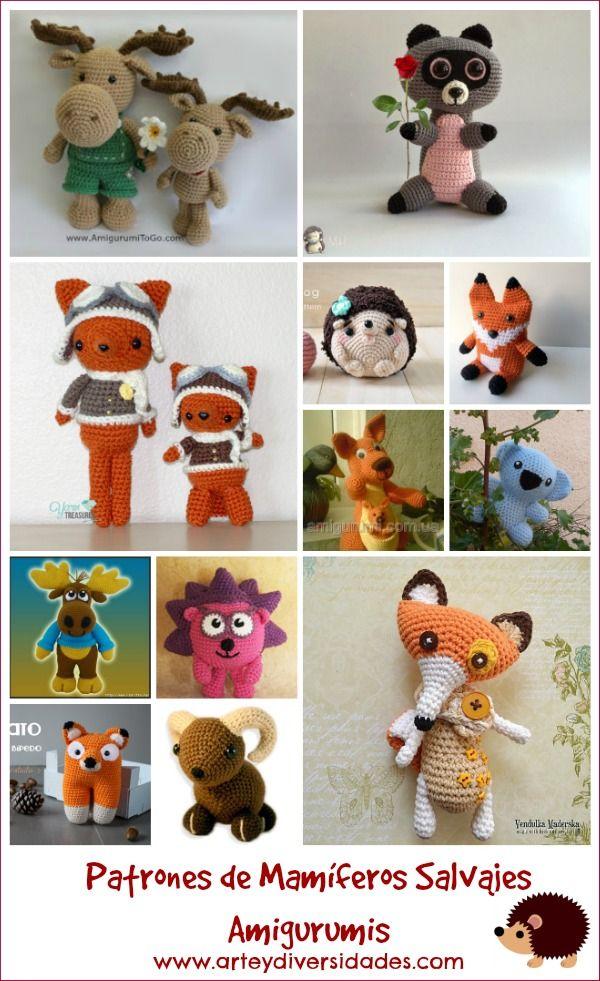 Diversidades: patrones gratis de crochet, amigurumi y manualidades: PATRONES DE PEQUEÑOS MAMÍFEROS SALVAJES AMIGURUMIS ACTUALIZADOS