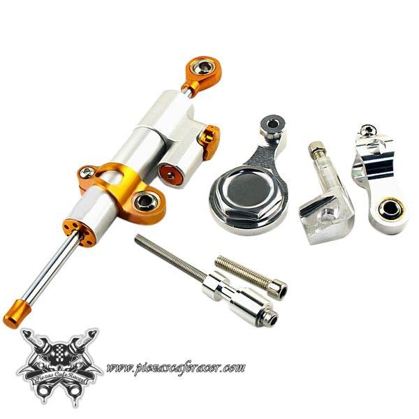84,12€ - ENVÍO GRATIS - Kit Amortiguador de Dirección Universal CNC con Botellín Para YAMAHA YZF R6 2006-2012 Varios Colores
