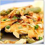 Filets de poisson amandine