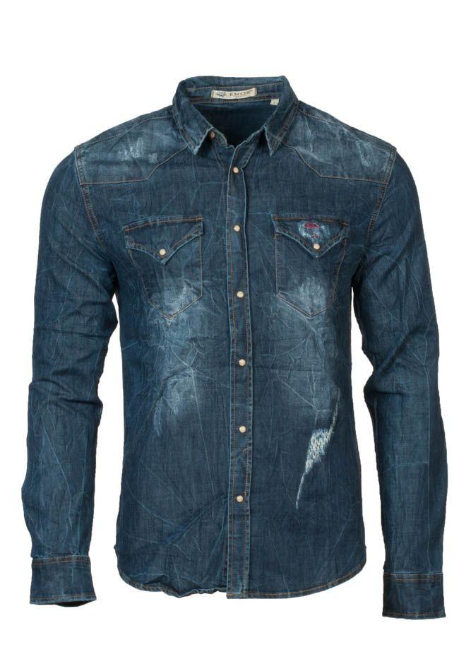 b83e99a7701 Τζιν ανδρικό καρό πουκάμισο | Καρό ανδρικά πουκάμισα | Πουκάμισα ...