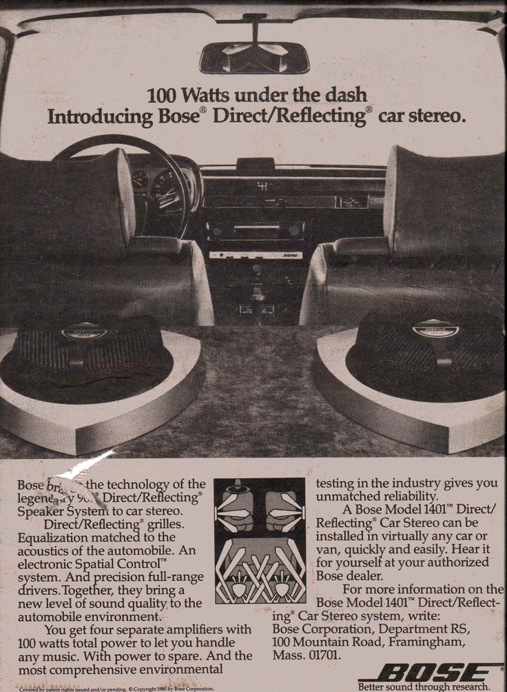1980 bose model 1401 direct reflecting car stereo. Black Bedroom Furniture Sets. Home Design Ideas
