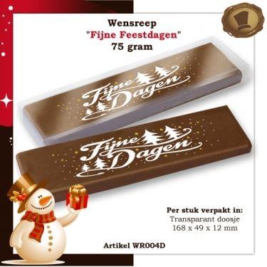 Wensreep in transparant doosje.  75 gram  Smaak / Melk en/of Purechocolade. Te bestellen vanaf 105 stuks. #chocolade #reep #relatie