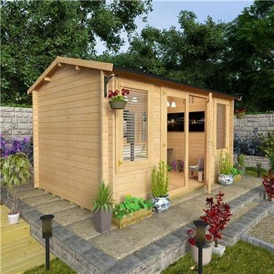 BillyOh Dorset Log Cabin - Log Cabin Summerhouses - Garden Buildings Direct