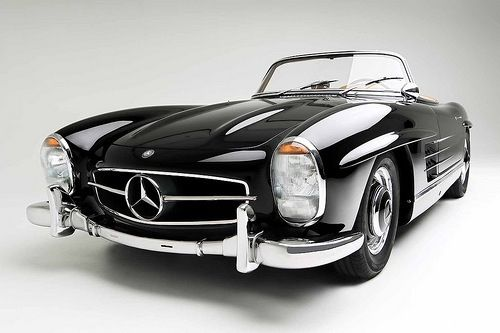Black Vintage 1960′s Mercedes Convertible / You know that Bare Naked Ladies song... If I had a million dollars? Well, this car or some other vintage sexy little Mercedes Convertible would be on my list. Even if only for a summer!