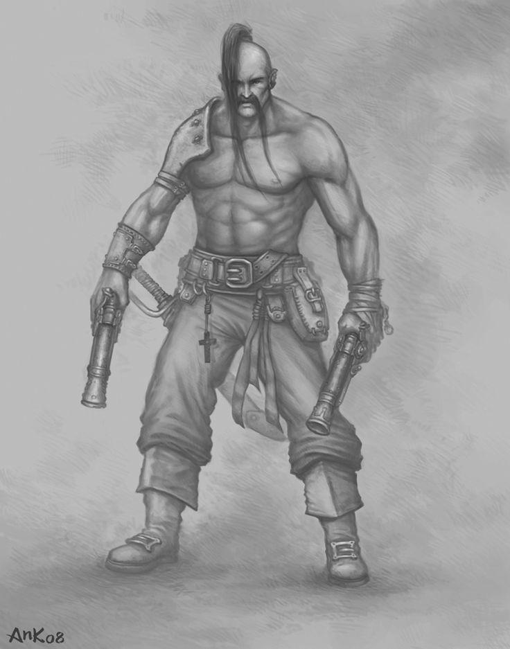 Cossack with pistols