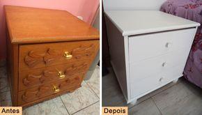 DIY bedside table customized  See here: http://customizando.net/customizando-criado-mudo-de-madeira/