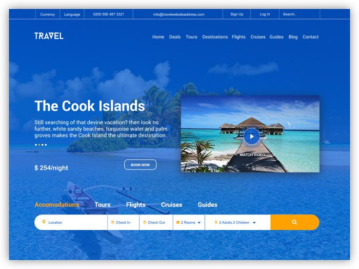 Travel Homepage by inthink.studio