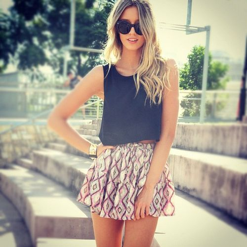 fresh.Fashion, Summer Looks, Crop Tops, Summer Style, Holiday Outfit, Summer Outfits, Summer Skirts, Summer Clothing, Dreams Closets