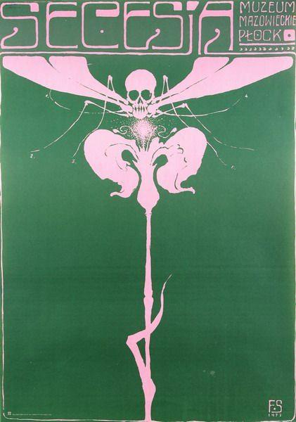 Secession (green) Secesja (zielona) Starowieyski Franciszek Polish Poster