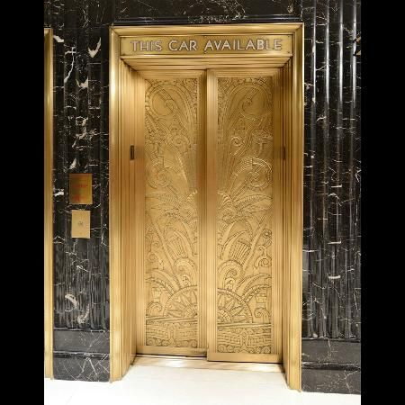 Art Deco Elevator Doors Essex House Hotel New York (attr. TripAdvisor)