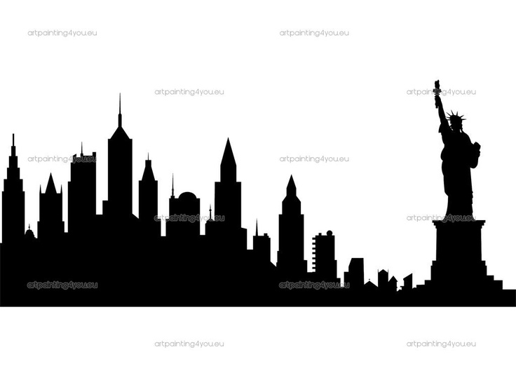 "Vintage Statue of Liberty and NYC Sky Line ~ This dramatic silhouette would be a wonderful heritage page embellishment illustrating the long and dangerous journey of our ancestor's immigration to America. If available, add a family or stock photo of their ship and copy of the ship's roster (can often find on Ancestry.com), family passports and photos of their journey and arrival. Capture your family's excitement as they start their new lives in ""The Land of the Free and the Home of the…"
