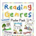 Genre Posters   Individual Genre Reference page!These colorful posters will help your students readily identify various genres in literature in...