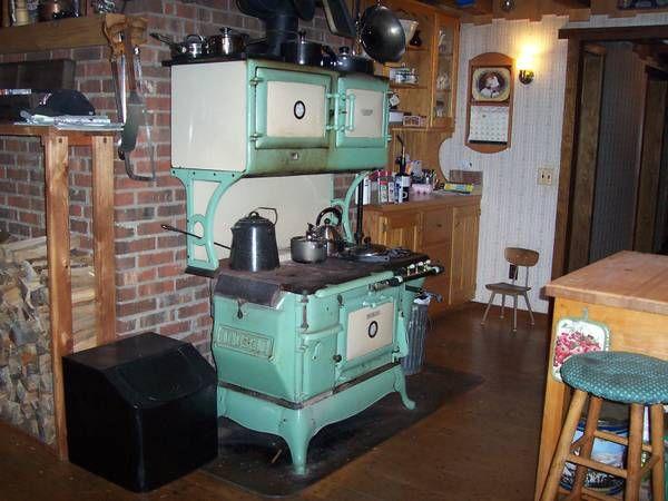 Kalamazoo Peerless Wood And Gas Cook Stove Vintage