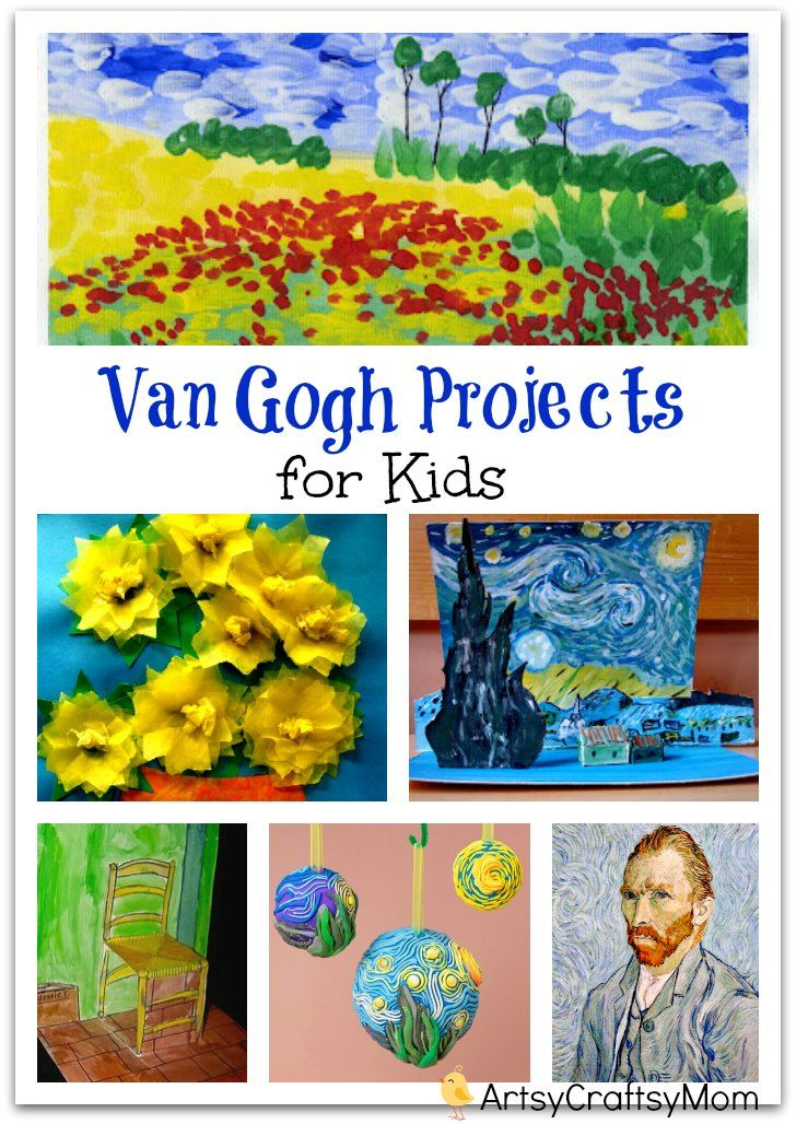 69 best images about van gogh art project for kids on - Different craft ideas for kids ...