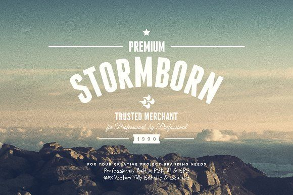 11 Trendy Vintage Insignias Vol.1 by Yusof Mining on @creativemarket