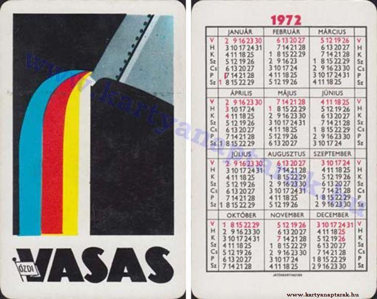 1972 - 1972_0625 - Régi magyar kártyanaptárak