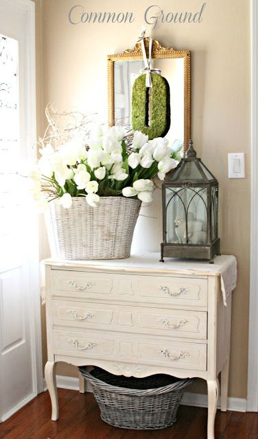 Gorgeous dresser!! FRENCH COUNTRY COTTAGE: It's a Spring Thing Features/this is what I really want in my entry