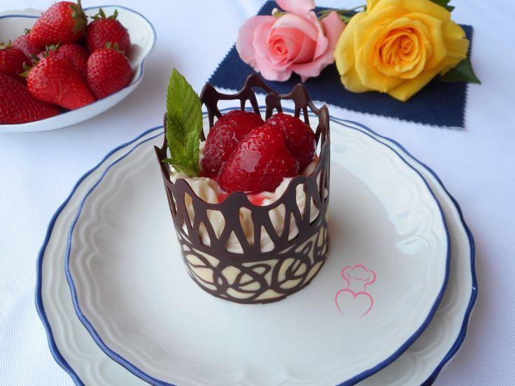 Cesta chocolate fresas