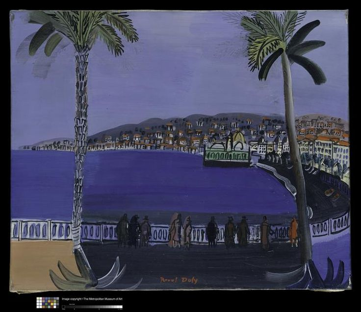 cr puscule la baie des anges nice raoul dufy 1932. Black Bedroom Furniture Sets. Home Design Ideas