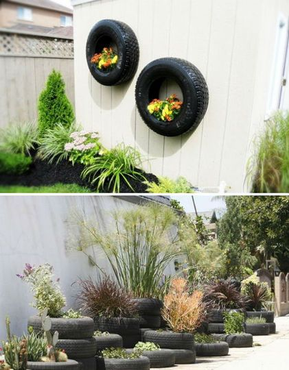 recycled wheel planters | Meguiars G3200 Brilliant Solutions New Car Wash Wax Tire Shine.