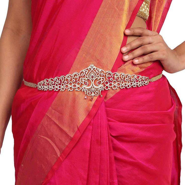 Zircon Belt 56867 #Kushals #Jewellery #FashionJewellery #IndianJewellery #WeddingAccessories #Belt  #Zircon