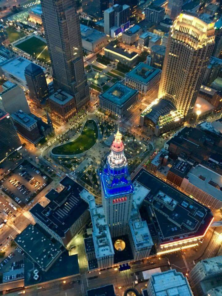 Great picture of Cleveland the last night of Republican National Convention 2016.