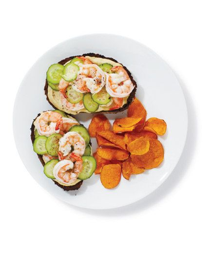 Shrimp and Hummus Sandwiches | Casting your net for new dinner recipes? Reel in the family with these fast, easy shrimp dishes.