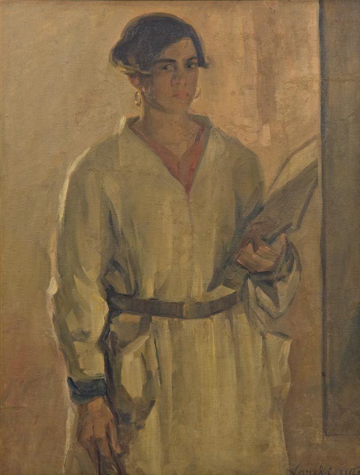 Luigi Varoli / La pittrice (ritratto di Olga Settembrini), 1927, olio su tela, cm 99x75