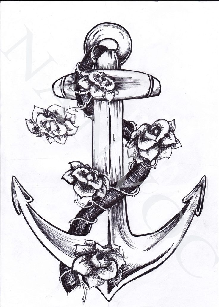 Anchor Tattoo. Pretty much what I want for the tattoo I want to get for my parents. Just japanese cherry blossoms instead.