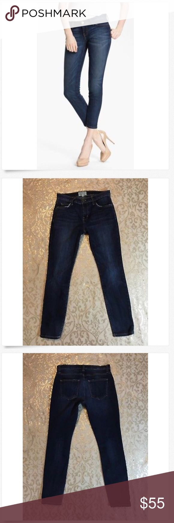 CURRENT/ELLIOTT Stiletto Skinny Stretch Jeans! CURRENT/ELLIOTT Stiletto Skinny Stretch Jeans! Great Used! Factory distressed 90% cotton, 6% polyester & 1% spandex 14 across & 9 rise Current/Elliott Jeans Skinny