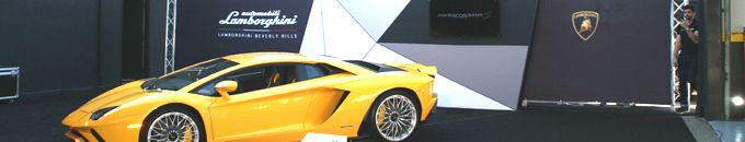 Lamborghini Aventador S Launch Party Installation in Los Angeles