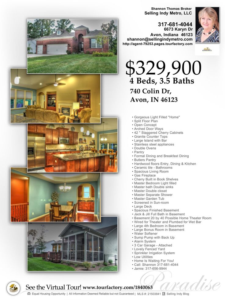 20 best Avon indiana images on Pinterest Avon, Indiana and Bridges - home for sale brochure