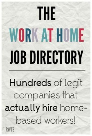 The work at home job directory. A five year work-in-progress listing hundreds of…