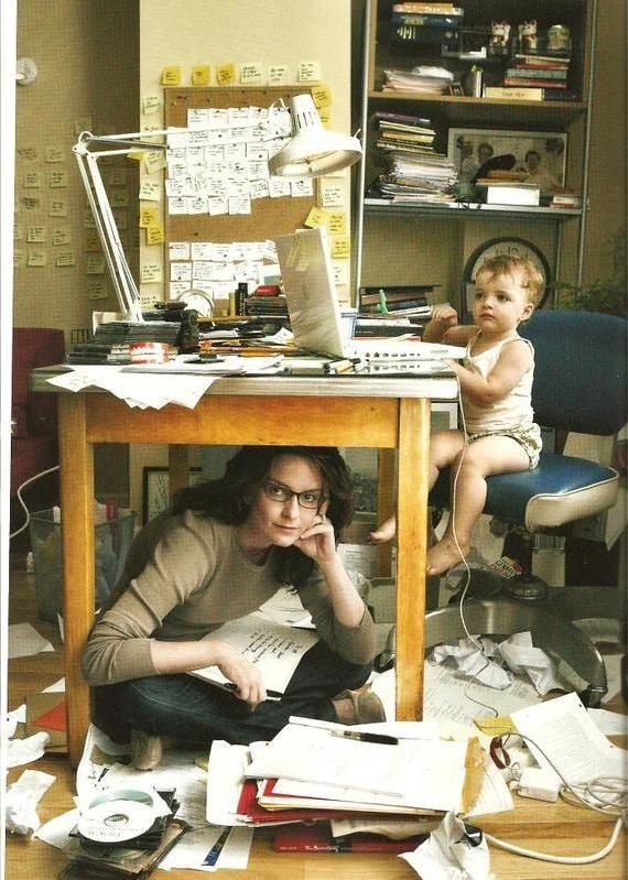 bahaha - Looks like my office - only with a preteen instead of the toddler! sorry folks - it doesn't get easier..... Love the sense of humor at Chic Forums!