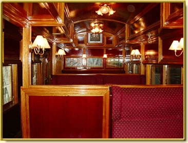 Inside one of our carriages