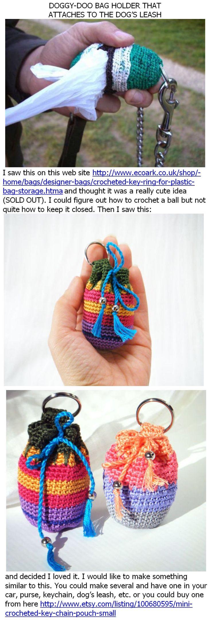 Doggy-doo bag holder to crochet - *Inspiration* Para guardar las bolsas del perro