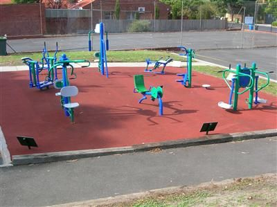 IDEA Outdoor Gym Equipment in Brighton Secondary School