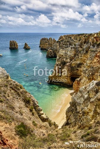 "Download the royalty-free photo ""amazing hidden beach in Portugal, Lagos "" created by stillforstyle at the lowest price on Fotolia.com. Browse our cheap image bank online to find the perfect stock photo for your marketing projects!"