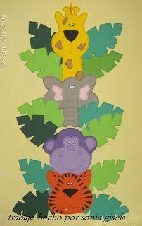 Artesanias Sonia: Molde de Regalo.....Animalitos de la selva
