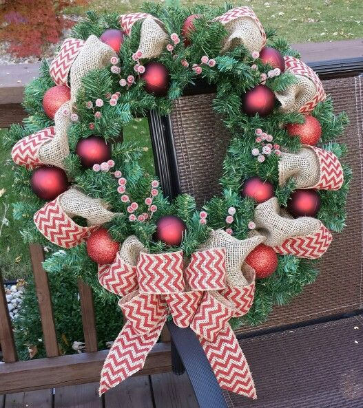 A little bit country Christmas wreath | Crafty-Crafts ...