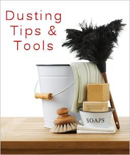 Dusting Tips - Dusting rag formula  helps your reusable dusting cloth grab on to and retain the dust instead of just moving it around.